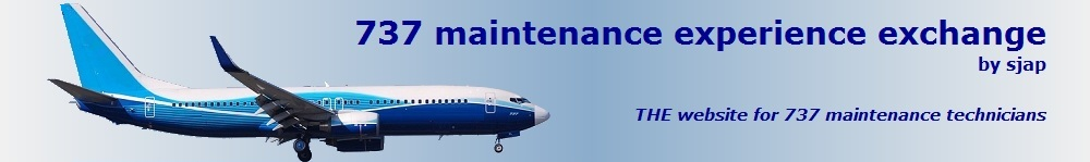 Sjap's 737 maintenance  experience exchange